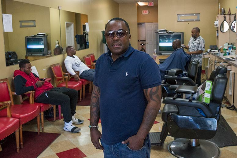 Ben Cooper, owner of El Dorado Barber Shop at Arbor Park Place