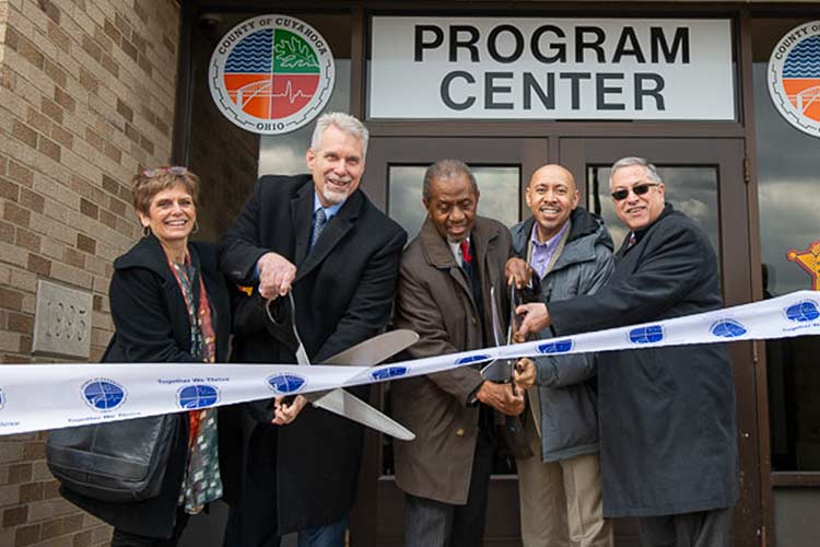 Comprehensive Reentry Programming Center ribbon cutting ceremony