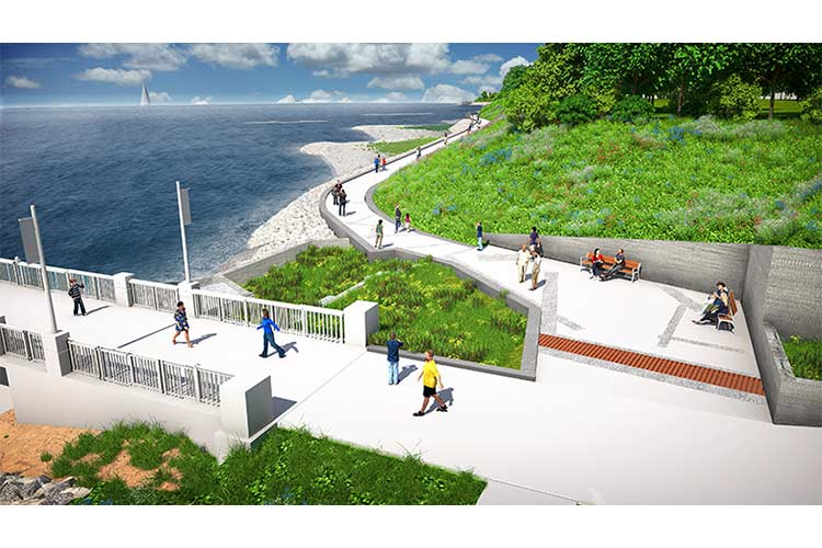 Rendering of Sims Park Pier where the trail will begin
