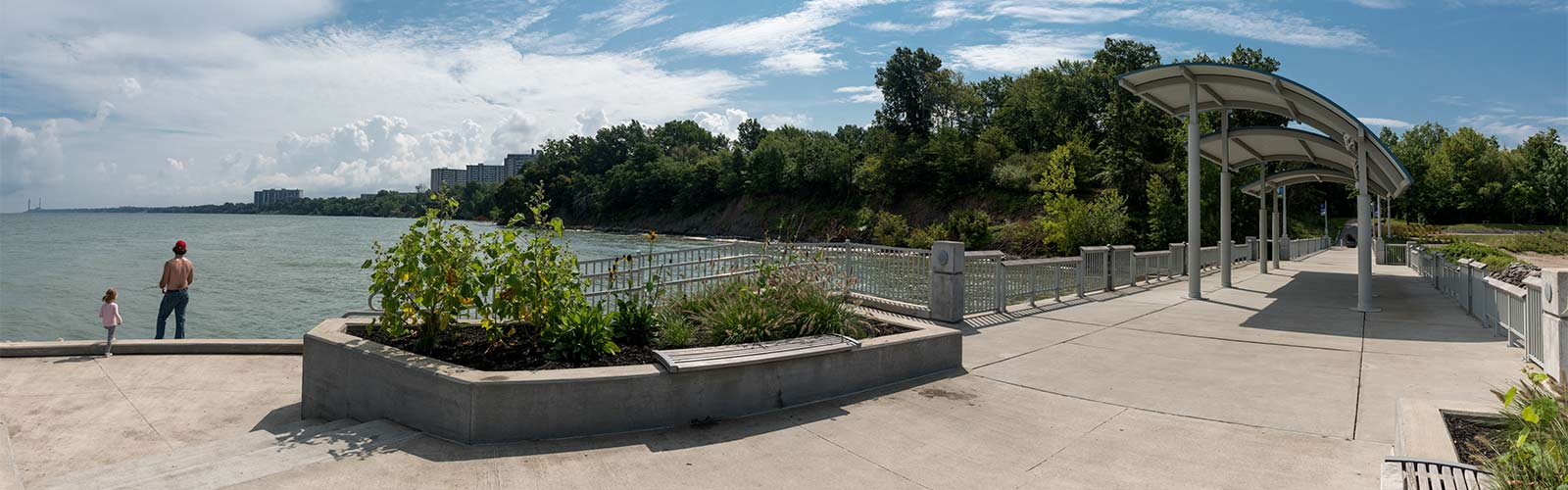 View of the proposed Euclid waterfront trail