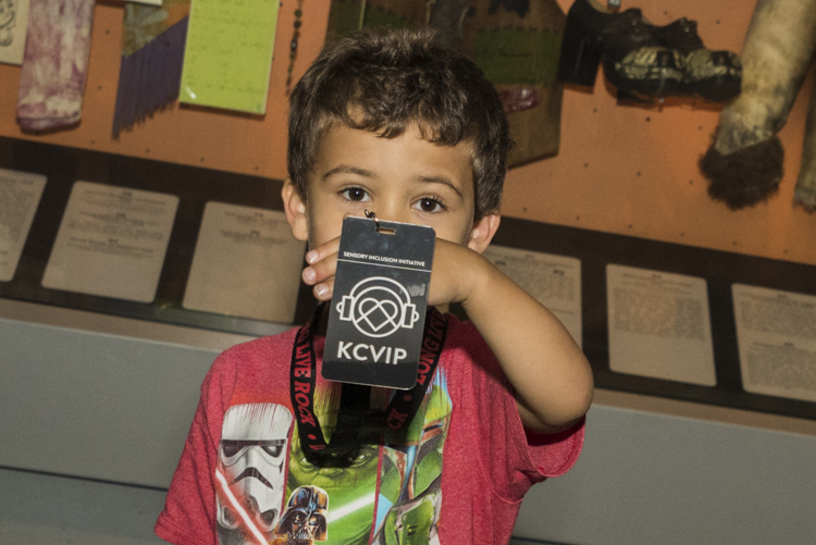 John Goehrke with his KultureCity VIP card included in the sensory inclusive program bag