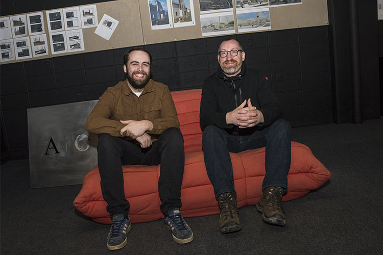 Ethan Rothermel and owner Adam Rosekelly of Architecture Office