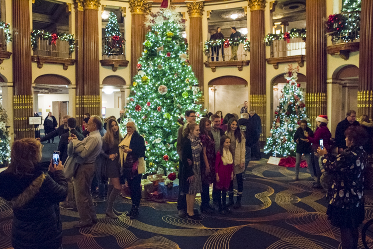 Cleveland Play House's Festival of Trees in the Allen Theater Lobby