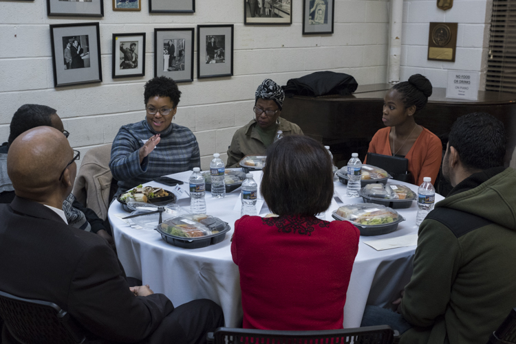 Break out groups at the Fairfax Community Conversation