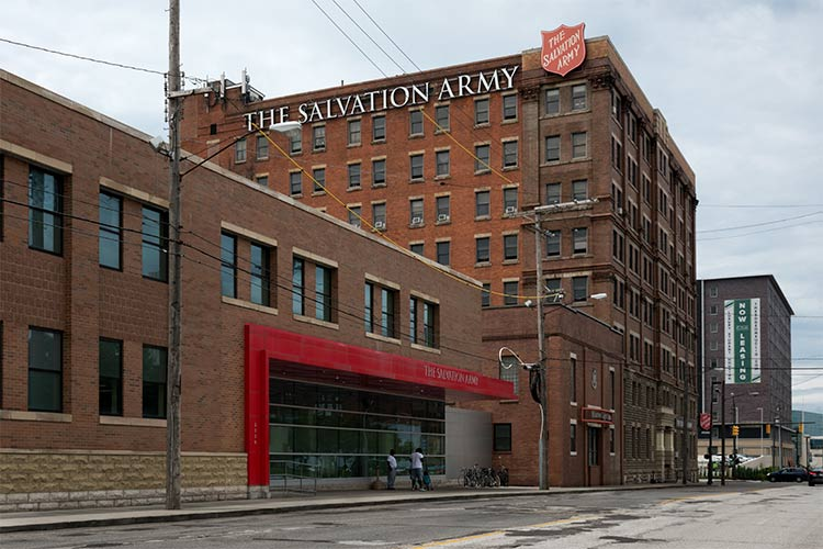 Salvation Army's Harbor Light Complex at the Zelma George Family Shelter on Prospect Avenue