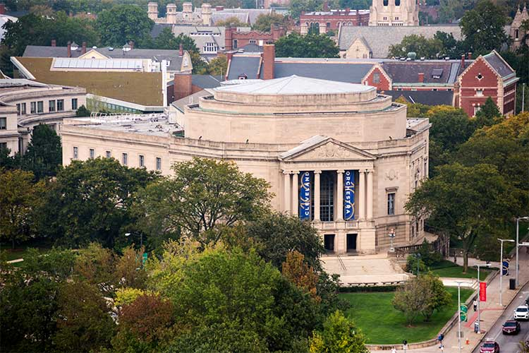 View of Severance Hall from One University