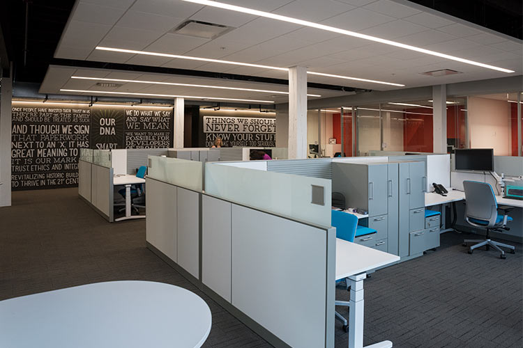 GBX Group work areas fashioned by Ohio Desk