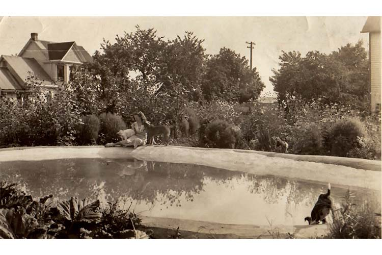 The pool at Lou Goodwin's house