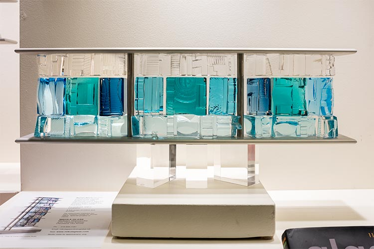 Architectural blown glass by Michael Mikula of MidTown Glass Studio