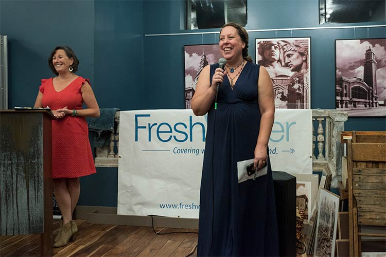 FreshWater publisher Tammy Wise& editor Jen Jones Donatelli