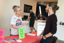 Voter registration event at MOCA