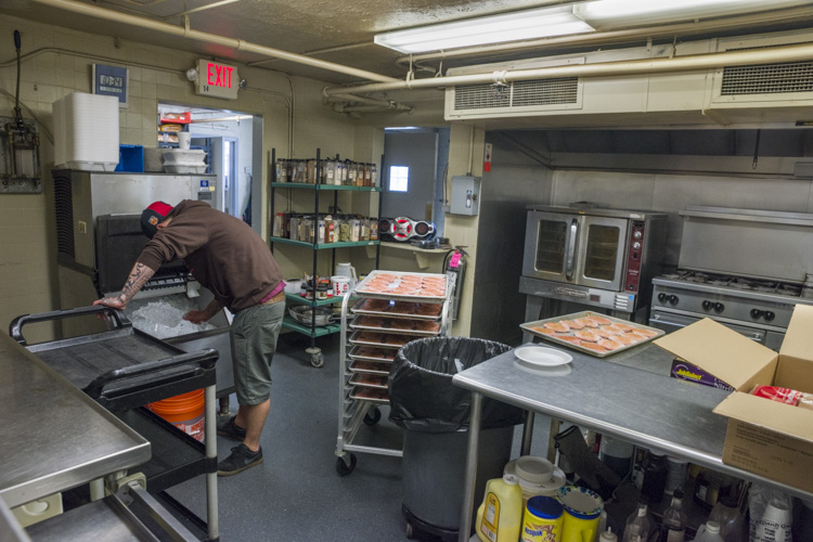 The kitchen at the Stella Maris Campus