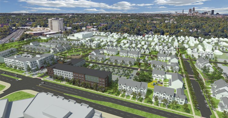 Innovation Square will put 500 new homes on land that was largely vacant before.