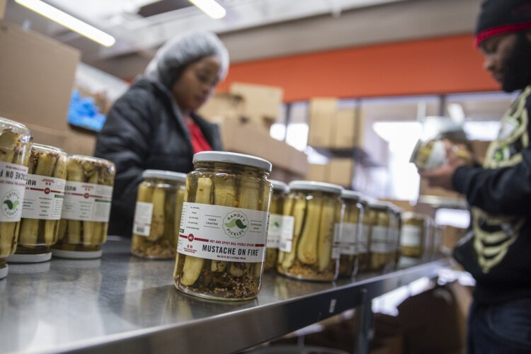 Randy's Pickles produces 3,000 cases a week at Central Kitchen.