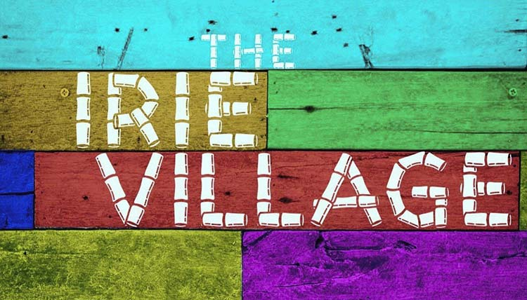 The logo for the new Irie Village retail shop on E. 185th Street