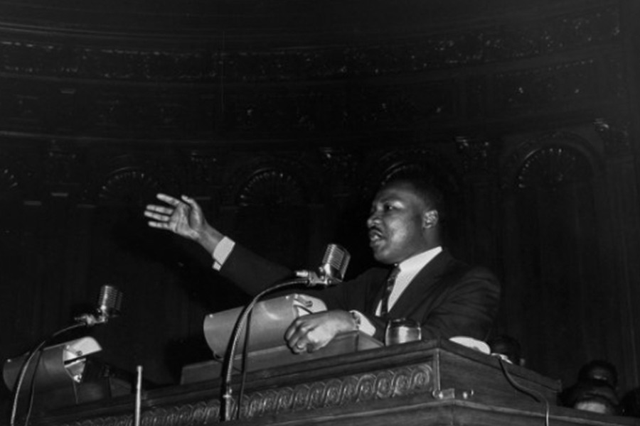 Dr. Martin Luther King, Jr. speaking at Cory United Methodist Church in Cleveland May 14th, 1963