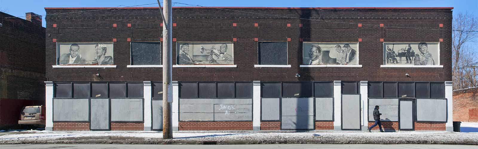 Jazz Greats murals on St. Clair, East Cleveland <span class='image-credits'>Bob Perkoski</span>