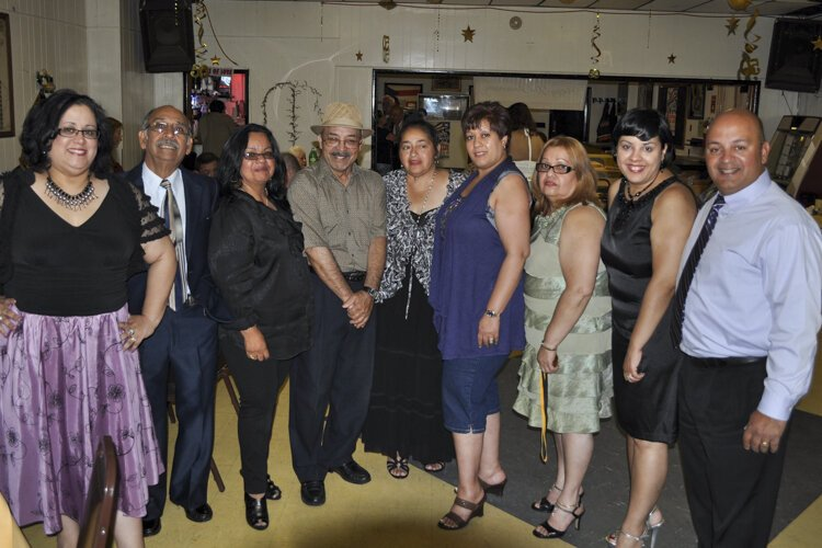 Oliveras family celebrating with club members in 2011 on behalf of Ramon Oliveras one of the last two surviving founding fathers of Club Alma Yaucana