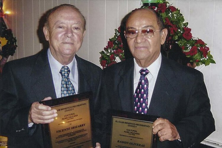 Don Vicente Irizarry and Don Ramon Oliveras two of the founders of club alma yaucana
