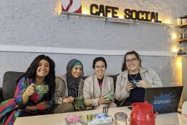 Café con Leche YLN weekly social on hot button topics