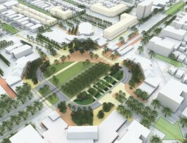 Rendering of the 'Shaker Park' concept proposed for Shaker Square