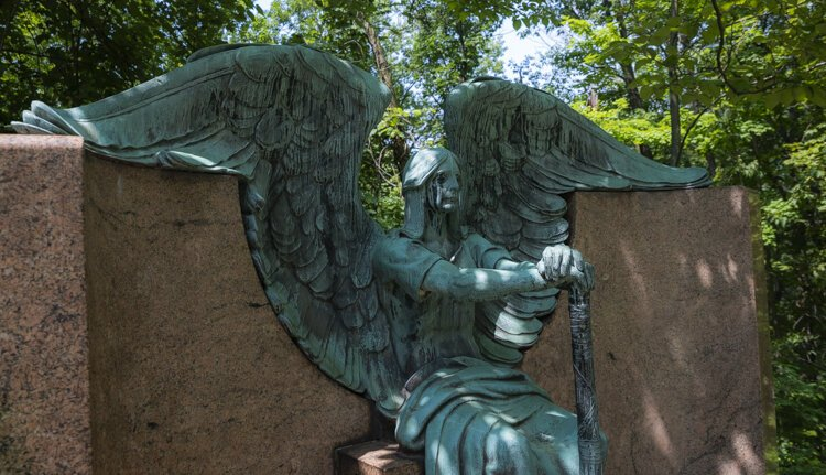The Haserot Angel at Lakeview Cemetery