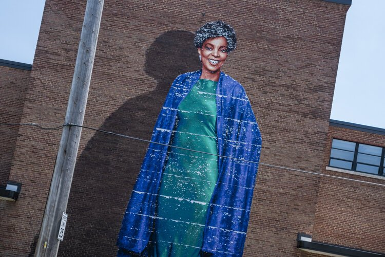 Ruby Dee Mural at Karamu House