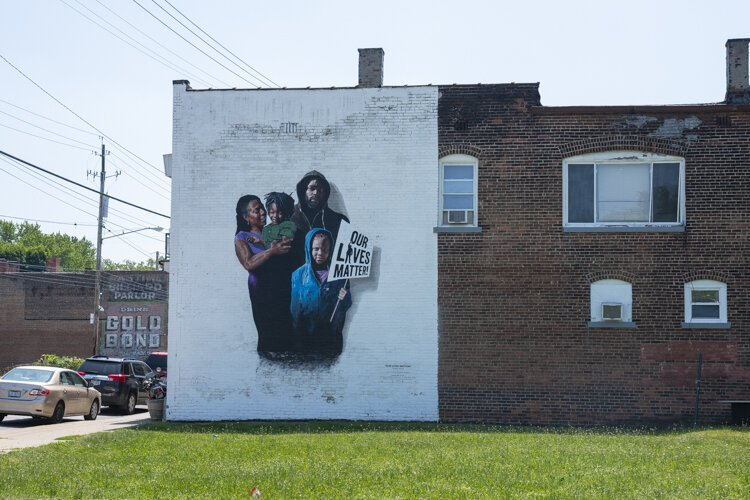 """Our Lives Matter"" mural by Gary Williams and Robin Robinson"