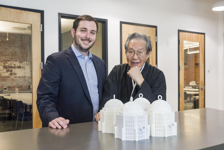 Max Herzog and Thomas Zung of  TACSO with their cage model