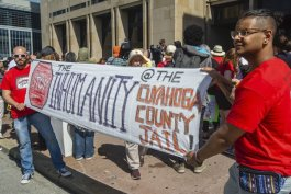 Coalition to Stop the Inhumanity action at the county jail in May