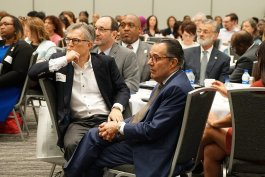Lead Safe Summit attendees included Paul Dolan (United Way of Greater Cleveland's Chairman of the Board of Directors and owner of the Cleveland Indians), Augie Napoli (President and CEO of United Way of Greater Cleveland), and Mayor Frank Jackson