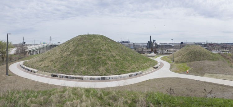 Towpath Mounds, an iconic part of stage 3 of the Towpath Trail