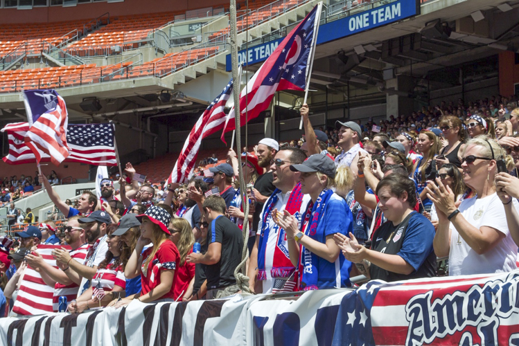American Outlaws Enjoying Soccer In Cleveland