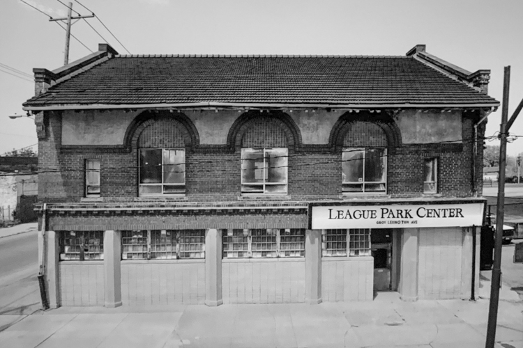 Old photo of the League Park Center
