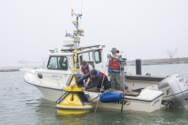 Buoys with webcams deployed in Lake Erie to help monitor water and atmospheric conditions