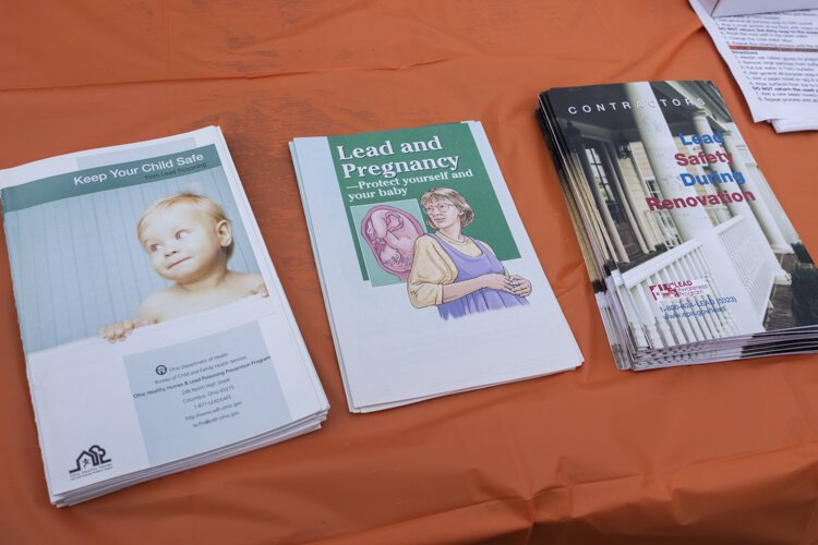 Lead poisoning information given out by the city of Cleveland Department of Public Health at a recent event in Public Square.