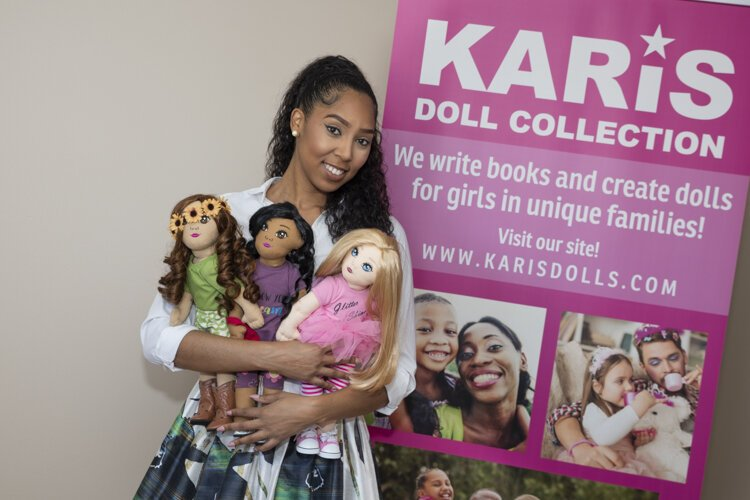 India Gill, creator of the Karis Doll Collection.