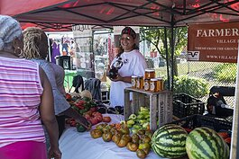 Village Family Farms displayed a bounty of vegetables at Fresh Fest on Sept. 7.