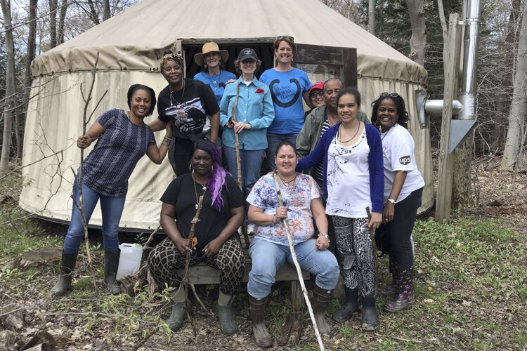 Staff and volunteers regrouped and re-energized at a retreat at Pebble Ledge Ranch in Geauga County in May 2018.