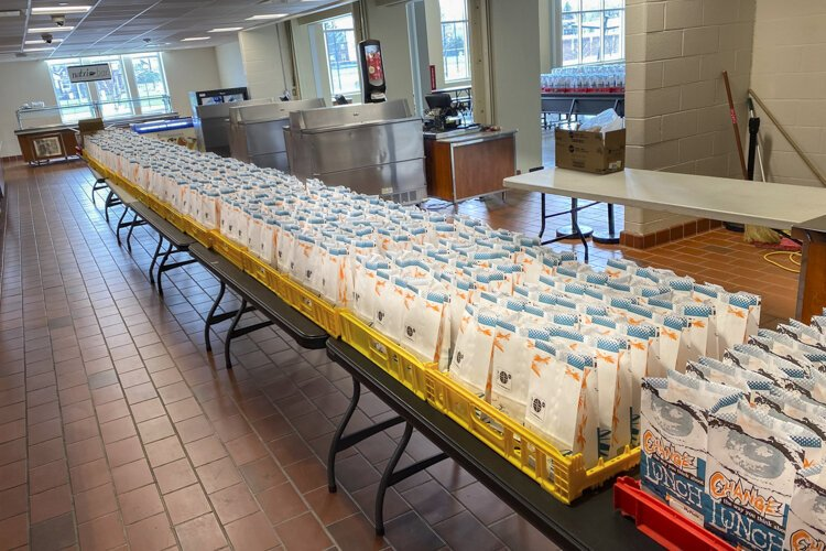 The Cleveland Heights-University Heights School District handed out 26,919 bags, each with two meals, as of Tuesday, April 7.