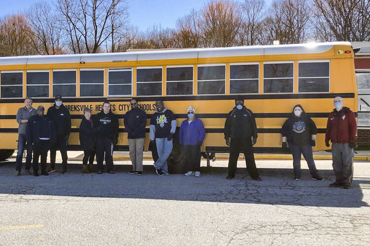 The Warrensville Heights School District has turned three school buses into food trucks distributing bags of breakfast and lunch every Monday, Wednesday and Friday.