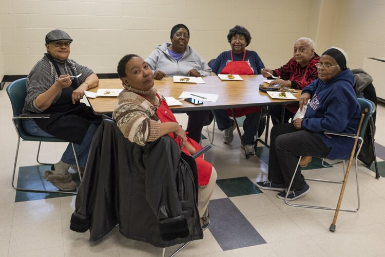 "The seniors enjoy their twice-a-month cooking sessions so much, they've given themselves their own name: ""The Cedar High Rise Pioneers for Healthy Eating."""