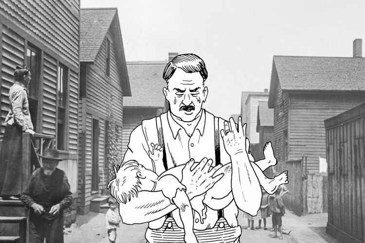 "In ""Streetcar City,"" comic artist and Harvey Pekar collaborator Gary Dumm illustrates a father carrying the corpse of his son through a Jewish enclave in 1890s Cleveland."