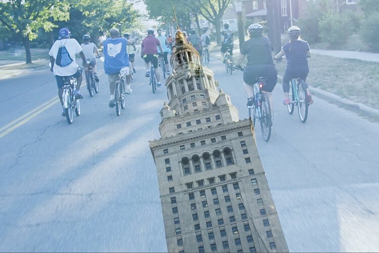 """Bike City"" looks at the growing social community around cycling, including events where large gatherings of Clevelanders explore the city and assert the place of bicycles on city streets."