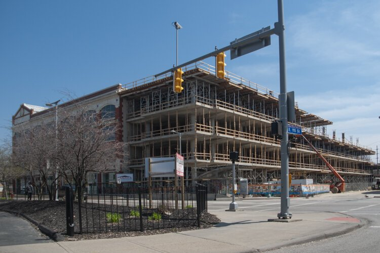 The Cleveland Institute of Art under construction in 2014.