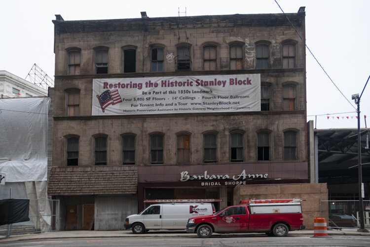 Building in the Historic Stanley Block downtown