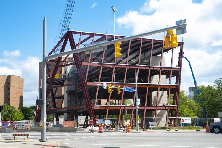 MOCA Cleveland under construction  in 2011