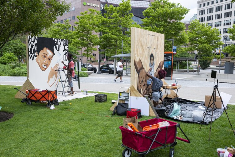 Nearly 20 art installations are set to appear from Public Square to North Coast Harbor—ideally producing peaceful debate around social justice.