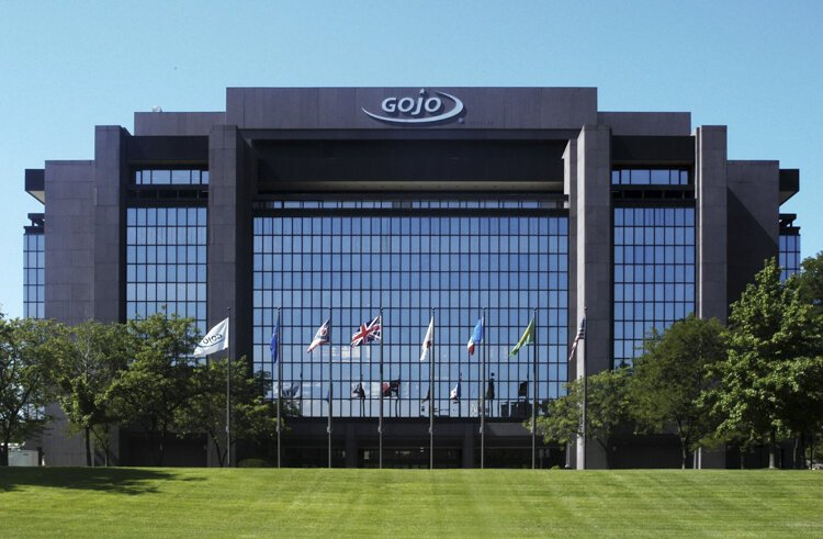 GOJO Industries headquarters located in Akron, Ohio.