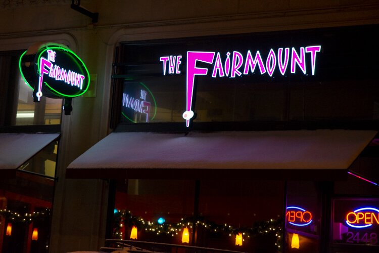 The Fairmount restaurant and cocktail bar.